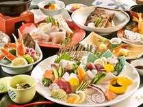 旬魚とかにとふぐ 海ごちそうプラン 早春の料理イメージ(お造りは2名盛)