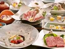 ・愛媛の自慢の食材を季節懐石に仕立てた「媛三昧」※地元料理コンテスト受賞作です