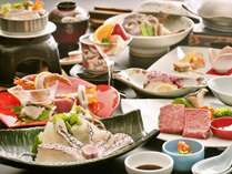 3湯巡り 料理イメージ瀬戸内鯛の郷土料理と伊予牛の1品付Ψ