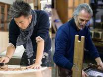五十崎ギルディング和紙を制作している日仏の職人たち