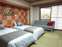 ◆リニューアル1周年◆和室ベッド付客室一例