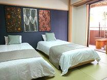全室禁煙◆リニューアル1周年◆9階足湯・2間続き客室一例◆五十崎ギルディング和紙の世界