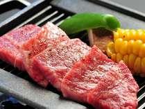 目の前で焼き上げる黒毛和牛ステーキ