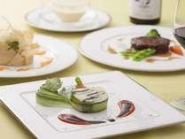 忍野高原野菜を使った洋食コース料理