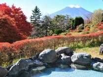 紅葉の季節の露天風呂