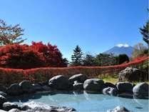 秋の露天風呂(10月下旬頃)