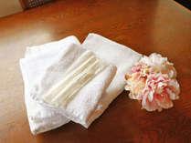 *【アメニティ】バスタオル、タオル、歯ブラシセット