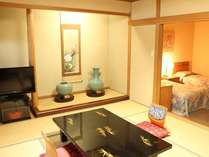 新館和洋室♪和と洋のココロ、一粒で二度楽しい空間です!!