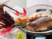 【伊勢海老&アワビ&2名から金目鯛の煮付け付】勝浦の磯料理と4種類のお風呂で温泉を満喫!