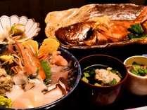 【お日にち限定】海の幸たっぷり海鮮丼♪鵜原館をお手軽に楽しむ!2~3名様に1匹金目鯛の煮つけ付