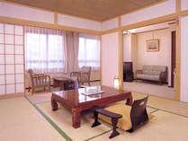 *お部屋はペットと同宿OK!和室とリビングの和洋室でゆったり寛げます。