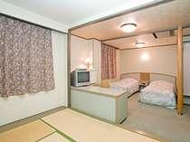 ツイン+和室6畳の広々とした和洋室はカップルからファミリーに最適!