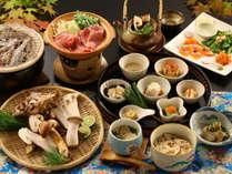 【秋季限定】1日6組限定◆炭火で味わう焼き松茸と信州牛のすき鍋【グレードアップ】
