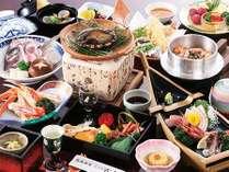 ◆豪華活アワビ 陶板焼き御膳