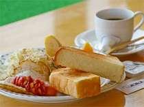 【朝食一例】展望スペースでご用意致します。