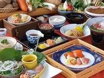 地元有機野菜を使った料理は体と心にやさしい味です(冬料理例)