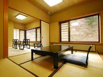 *新館和室(8畳+6畳)広々とした空間で、ちょっと贅沢な気分を味わっていただけます!