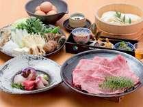 京都和牛のすき焼き鍋会席※イメージ