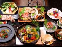 新鮮魚貝の海鮮焼会席