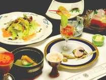 【二食付きプラン】*お料理一例*新鮮野菜等旬の食材にこだわった、手作りのお料理です。