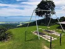 *【絶叫ブランコ】話題のスポット★標高550mにある丘に位置するブランコはハイジ気分を楽しめます!