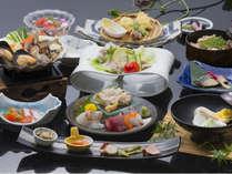【夏6月~8月】瀬戸の旬彩会席 ~鮑と瀬戸内貝で彩るかがわの涼味~