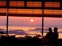 レストランからの★瀬戸大橋と夕陽★