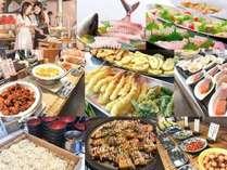 讃岐の旬魚と四国のグルメビュッフェ旬魚や郷土料理を中心に季節のメニューが並びます)