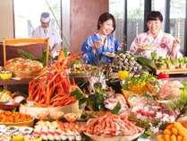 """紅蟹・マグロ・サザエなど食べ放題""""海鮮かぶりつきビュッフェ""""登場!![一例]"""