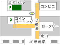 甲府駅北口前雨の日も、風の日も、暑い日も、深夜・早朝でも困りません