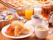朝のパン・コーヒー・ジュース・スープ
