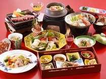 【和食会席膳/海饗の宴】旅館の醍醐味、お刺身6点盛・海鮮鍋で大盛り上がり間違いなし