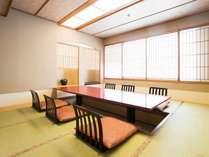 【3F 個室会食処/福寿草】高級感と滞在空間を追求した、掘りごたつ式の会食場