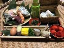 豊後水道の地タコや牡蠣、サザエなど地獄蒸しで素材の味を生かしたお料理をお召し上がり下さい。