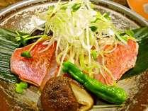【じゃらん限定】金目鯛の鯛味噌焼き&鮑の踊り焼きプラン