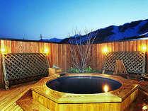 心も体も休まる自慢の天然温泉、白馬姫川温泉「露天風呂」でほっこり。