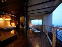 【リニューアル展望離れ】一泊二食付きで楽しむ温泉リゾート旅館