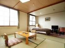 ◆和室+ダブルベッドルーム。ご夫婦やカップルに人気の客室です。