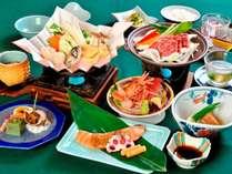◆【ご夕食】~山幸会席竹コース~(※2019年6月~10月の一例です。)