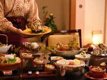 【朝夕お部屋食】露天風呂付客室だけの特別なお食事をお楽しみくださいませ