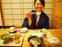 【1泊夕食付(朝食なし)&個室食プラン】プライベート重視!個室食事処「ときは」でお食事!