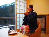 【朝はのんびりお部屋で軽食♪】夕食は個室食事処「ときは」で!女性は色浴衣レンタル無料<冬季限定>
