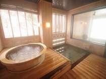 檜のジャグジーバス。二階の凪の湯にあります。