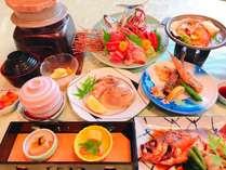 「海鮮陶板焼、お刺身,地はまぐり焼きと近海地魚料理」おまかせ基本プラン
