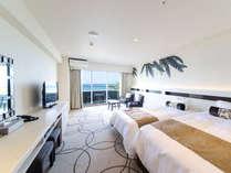 スーペリアツイン芭蕉の木陰をイメージした落ち着いたお部屋