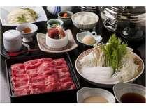 しゃぶしゃぶ食べ放題(牛肉・豚肉・野菜食べ放題)先付・御造り・茶碗蒸し・きしめん・デザート付!