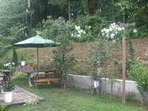 四季折々の花が咲く庭(山ゆりの見頃は8月上旬)