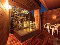 薩摩よりもちょっぴり広めの貸切露天風呂『隼人』ご宿泊の方は45分間1500円でご利用頂けます