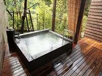 薩摩よりもちょっぴり広めの貸切露天風呂【隼人の湯】