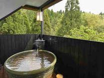 【露天風呂付和室】露天風呂と室内洗い場は畳敷き!いつでもお好きな時にかけ流しの上質温泉を独り占め☆